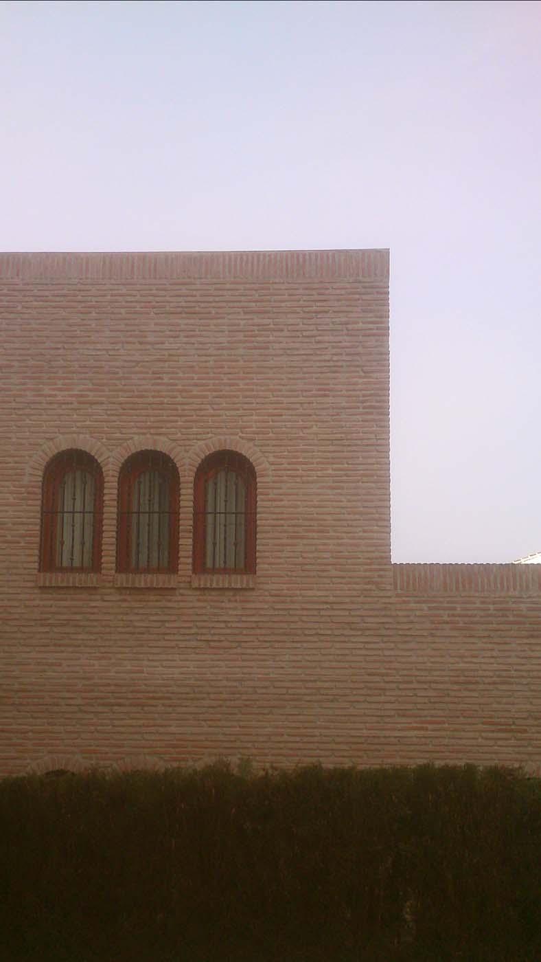 Facade with era brick