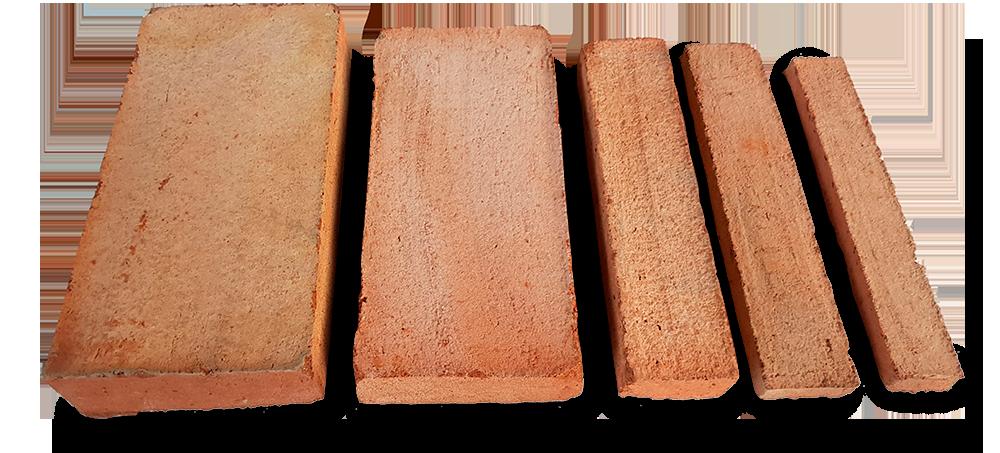 Various sizes rustic manual bricks