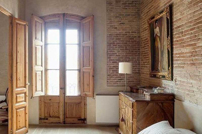 Interiors with rustic handmade bricks